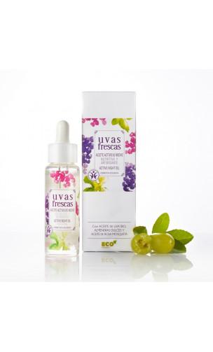 Huile active Bio Nourrissante & Antioxydante pour la nuit - Uvas Frescas - 40 ml.