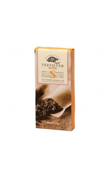 Filtre en papier pour thé bio en vrac - Non chloré - Taille S - 100 unités -  Alveus
