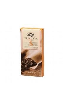 Filtro de papel para té ecológico a granel - Sin cloro - Talla S - 100 unidades - Alveus