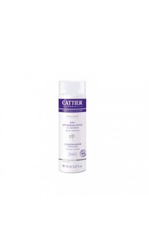 L'eau démaquillante bio Yeux sensibles Pétale d'Iris SANS PARFUM - Cattier - 150 ml.