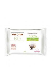 Toallitas íntimas naturales Algodón & Aloe vera - BOCOTON - 20 Ud.