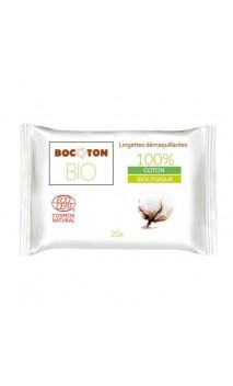 Toallitas desmaquillantes naturales Algodón & Aloe vera - BOCOTON - 20 Ud.