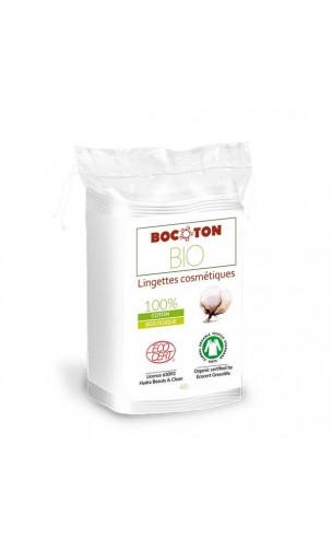 Toallitas SECAS ecológicas Desmaquillantes & Cuidado - Algodón bio - BOCOTON - 60 Ud.