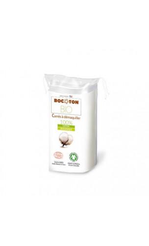 Cuadrados desmaquillantes de algodón bio - BOCOTON - 40 Ud.