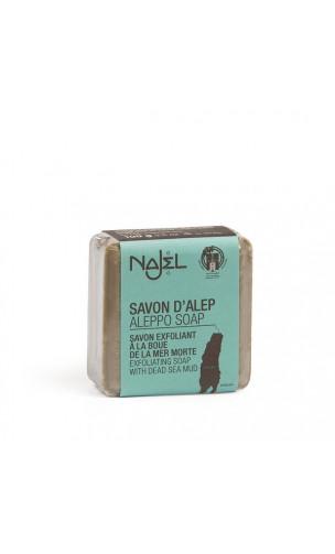 Savon d'alep naturel à la boue de la mer Morte - Savon Exfoliant - Najel - 100 g.