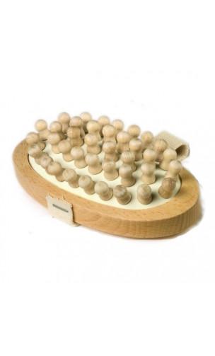 Brosse de massage Anti-cellulite en bois de hêtre - Douce - Redecker