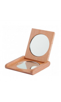 Miroir de poche pliant en bois - Redecker