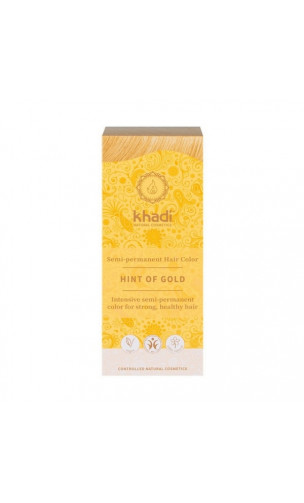 Coloration végétale bio - Blond doré - 100% végétal - Khadi - 100 gr.