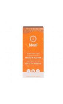 Tinte vegetal bio - rubio medio - 100 vegetal - Khadi - 100 gr.