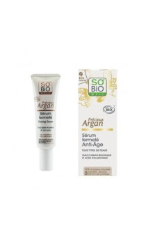 Sérum reafirmante antiedad ecológico Précieux Argan - SO'BiO étic - 30 ml.