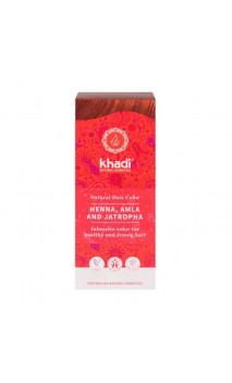 Henné bio Amla & Jatropha - Rouge - 100 naturel - Khadi - 100 gr.