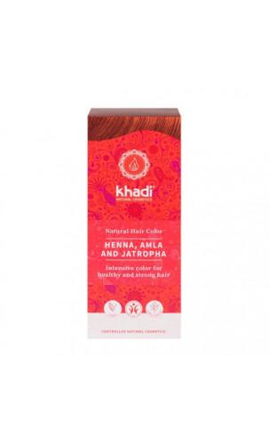 Henné bio Amla & Jatropha - Rouge - 100% naturel - Khadi - 100 gr.