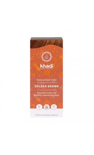 Coloration végétale bio - châtain doré - 100 végétal - Khadi - 100 gr.