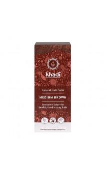 Tinte vegetal bio - castaño medio - 100 vegetal - Khadi - 100 gr.