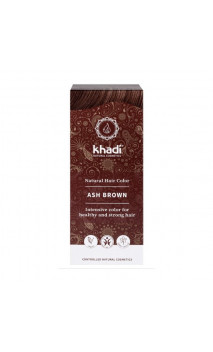 Coloration végétale bio - châtain cendré - 100 végétal - Khadi - 100 gr.