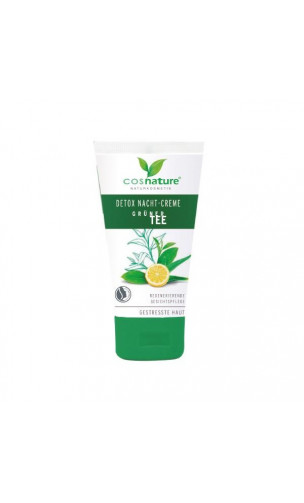 Crema de noche Detox Té verde bio - Cosnature - 50 ml.