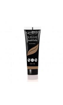 """Maquillaje Fluido Ecológico """"Sublime"""" 07 Extra oscuro - PuroBIO - 30 ml."""