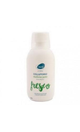 Bain de bouche naturel Rafraîchissant - Eucalyptus & Aloe vera - Bjobj - 500 ml.