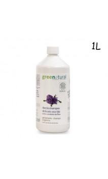 Gel de ducha y champú ecológico de lino y proteínas de arroz - Greenatural - 1L