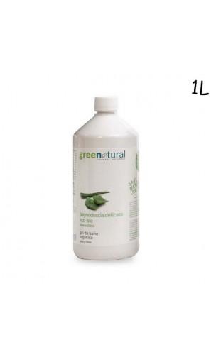 Gel douche BIO à l'aloe vera et à l'olive - Greenatural - 1L