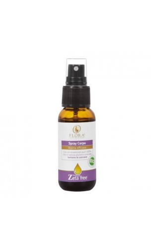 Spray corporel Anti-moustiques bio - Flora - 30 ml.