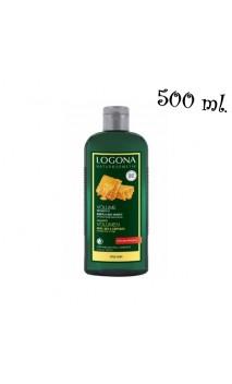 Champú volumen ecológico Miel & cerveza - Cabello fino/frágil - Sin Sulfatos - LOGONA  - 500 ml.