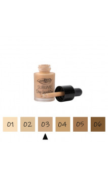"Maquillage Fluide BIO ""Drop"" 03 Neutre - FPS 10 - PuroBIO - 15 ml."