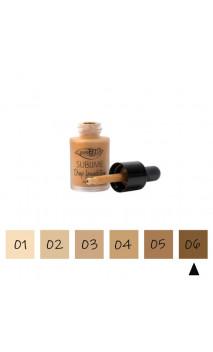 "Maquillaje Fluido Ecológico ""Drop"" 06 Muy oscuro - FPS 10 - PuroBIO - 15 ml."