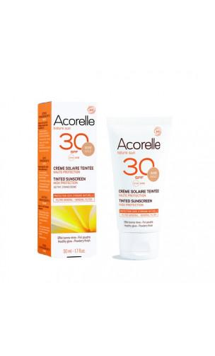 Crème solaire BIO Visage - Teinte Dorée SPF 30 - Acorelle - 50 ml