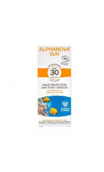 Protecteur solaire naturel facteur 30 Hypoallergénique - Peau sensible/reactive - Alphanova Sun - 50 gr.
