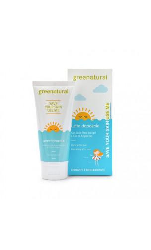Lait Aftersun BIO Calmant - Aloe Vera & Argan - Greenatural - 100 ml.