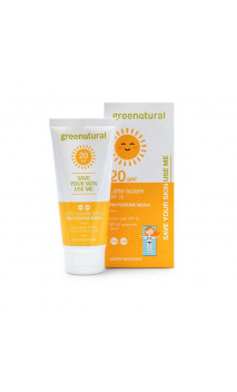 Lait solaire bio SPF 20 - Greenatural - 100 ml.