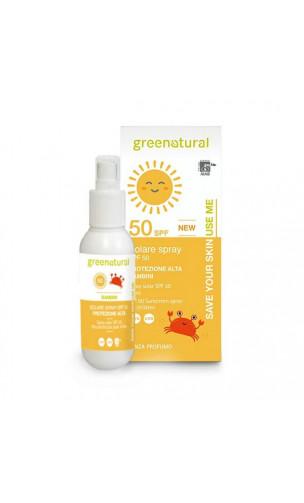 Spray solaire bio enfant SPF 50 - Greenatural- 100 ml