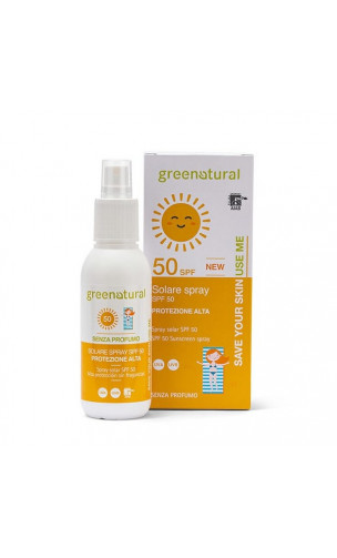 Spray solaire bio adultes peau sensible SPF 50 - Greenatural- 100 ml