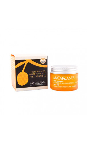 Crema facial bio 100% hidratante nutritiva para piel sensible - Matarrania - 30 ml.
