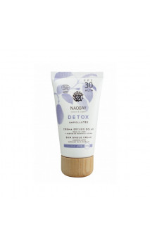 Crema escudo solar natural FPS 30 -DETOX-  (SUN SHIELD CREAM) - NAOBAY - 50 ml.