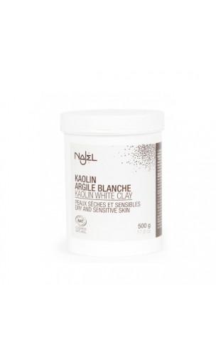 Arcilla blanca natural en polvo - Najel - 150 g.