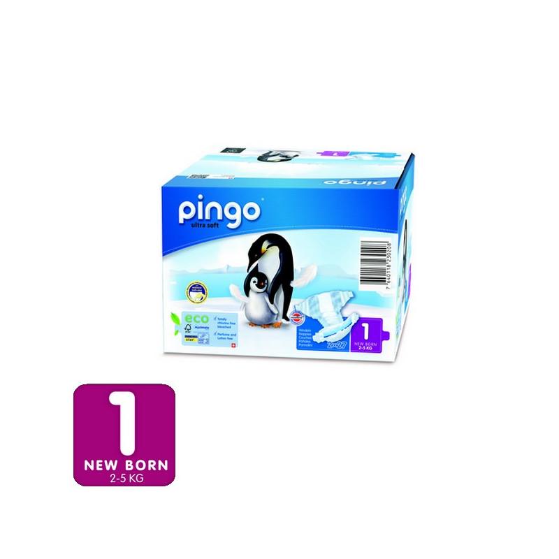 Total 84 Pa/ñales 3-6 Kg - Caja de 2 x 42 Pa/ñales Pingo Pa/ñales Talla 2 Mini