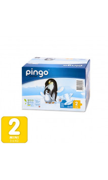 Pañales ecológicos Talla 2 MINI 3-6 Kg- 84 unidades -2 pack x 42 ud. - PINGO