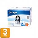 Couches écologiques Taille 3 MIDI 4-9 Kg- 88 unités -2 pack x 44 u. - PINGO