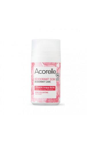 Déodorant bio Roll-on Rose Églantine - Sans alcool - Acorelle - 50 ml.