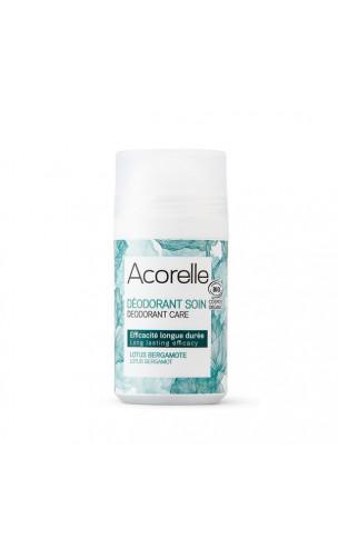 Déodorant bio Roll-on Lotus & Bergamote - Sans alcool - Acorelle - 50 ml.