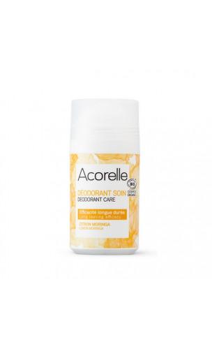 Déodorant bio Roll-on Citron & Moringa - Sans alcool - Acorelle - 50 ml.
