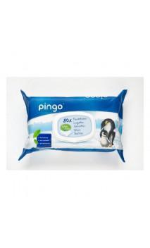 Lingettes biodégradables  pour bébé sans parfum - PINGO - 80 unités