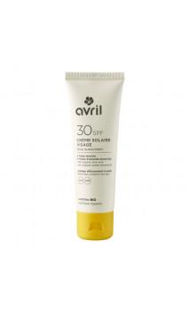 Protecteur solaire visage bio SPF 30 - Avril - 50 ml.