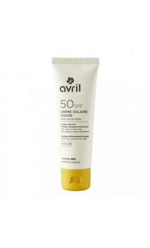 Protecteur solaire visage bio SPF 50 - Avril - 50 ml.