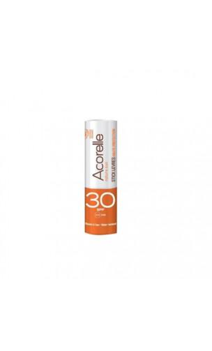 Bálsamo labial solar ecológico SPF 30 - Sin perfume - Acorelle - 4 g.