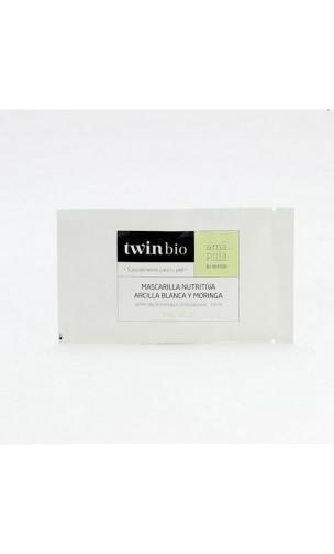 Masque bio Nourrissant - Argile blanche & Moringa - Peau sèche - Amapola - 5 x 14 ml.