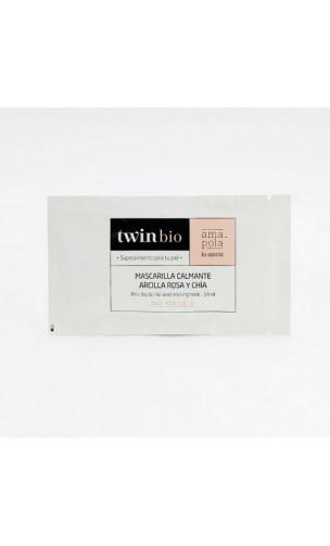 Masque bio Calmant - Argile rose & Chia - Peau sensible - Amapola Biocosmetics - 5 x 14 ml.