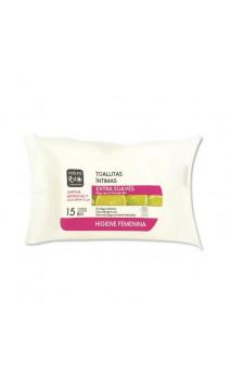 Toallitas íntimas bio Extra Suaves - Aloe vera & Pomelo - NaturaBIO Cosmetics - 15 Ud.